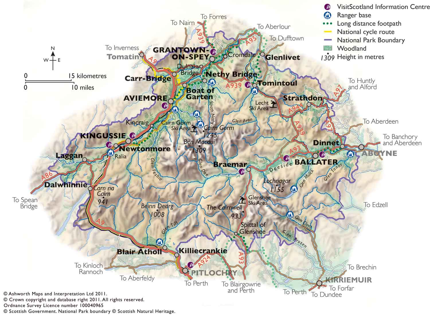 Caringorm National Park_Map